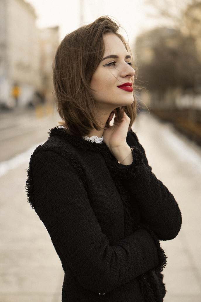 tweedowy żakiet chanel