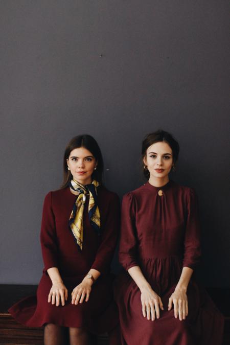 burgundowa sukienka Marie Zelie, blog Freakery