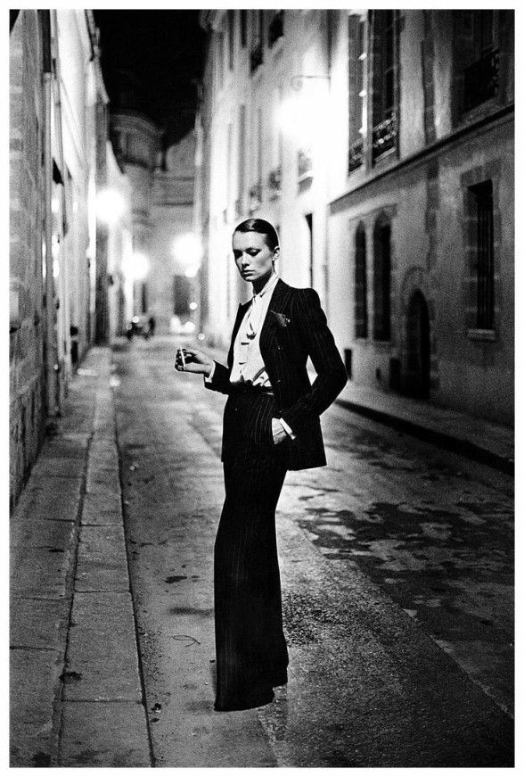 Helmut Newto Le Smoking, women's tuxedo by Yves Saint Laurent