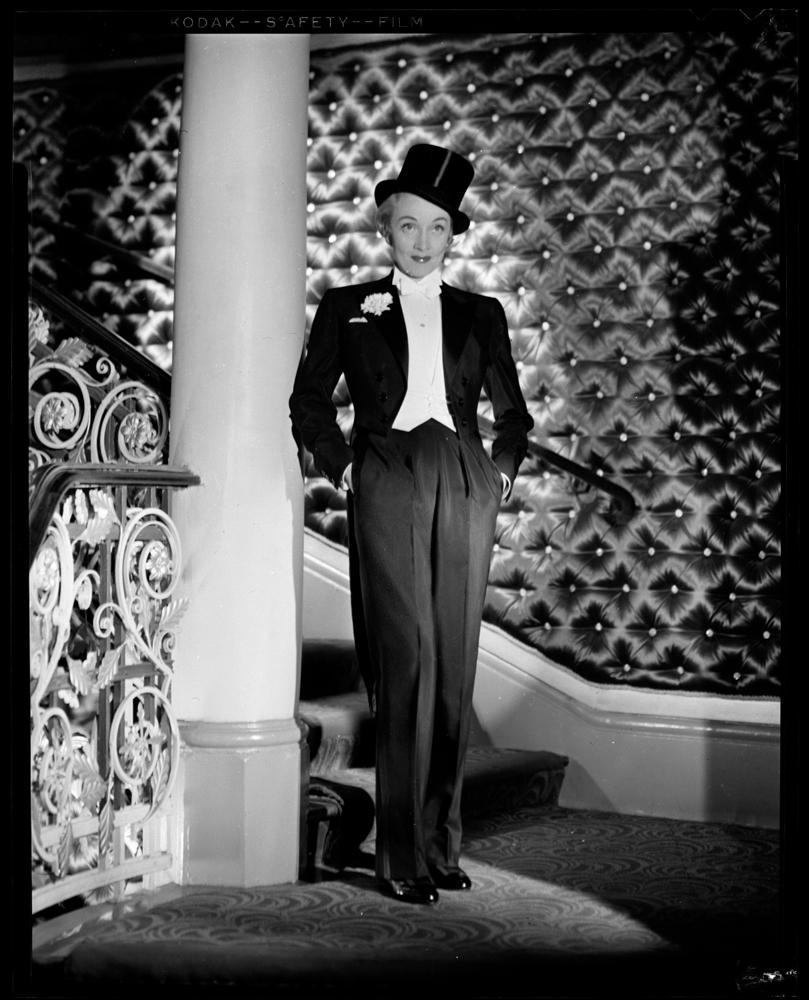 Marlene Dietrich in suit