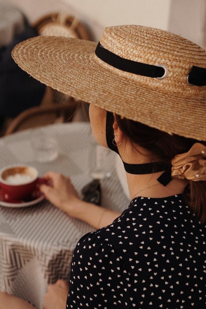kapelusz wiązany z kokardą retro, Karolina Maras
