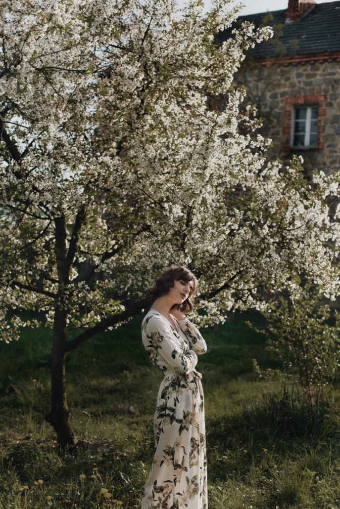 maxi sukienka w kwiaty Karolina Maras