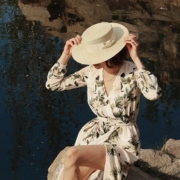 damski kapelusz kanotier