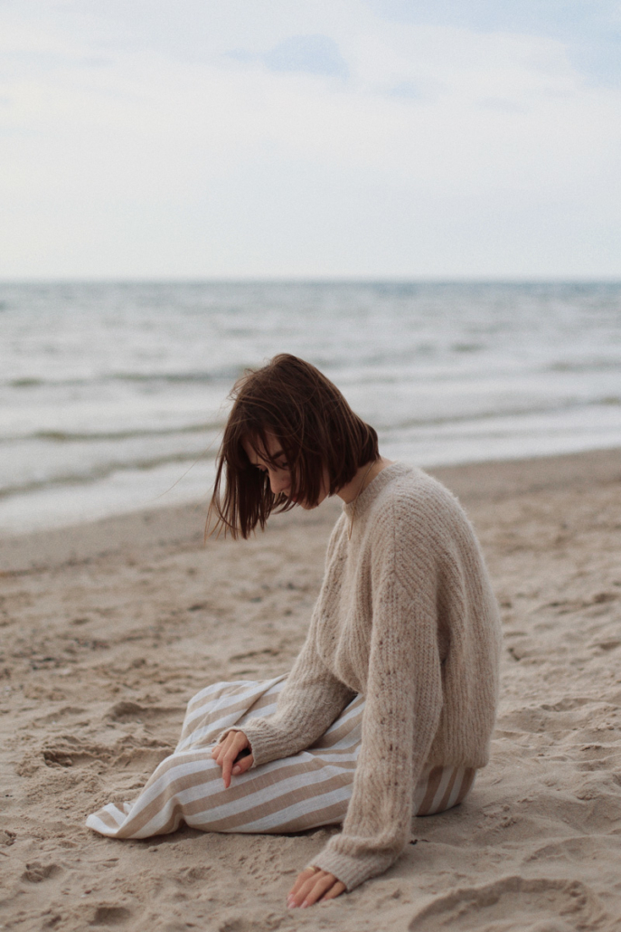 gruby wełniany sweter