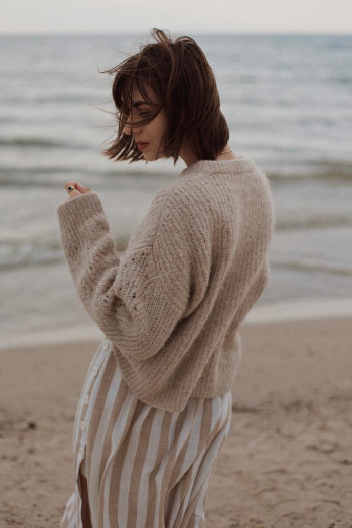 wełniany gruby sweter