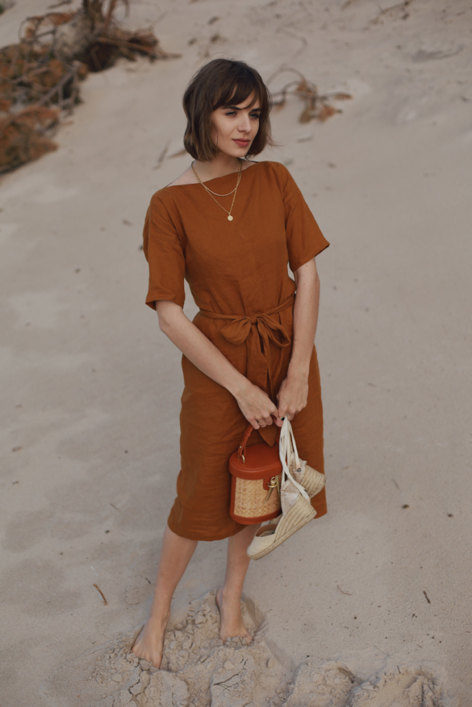 lniana sukienka na lato