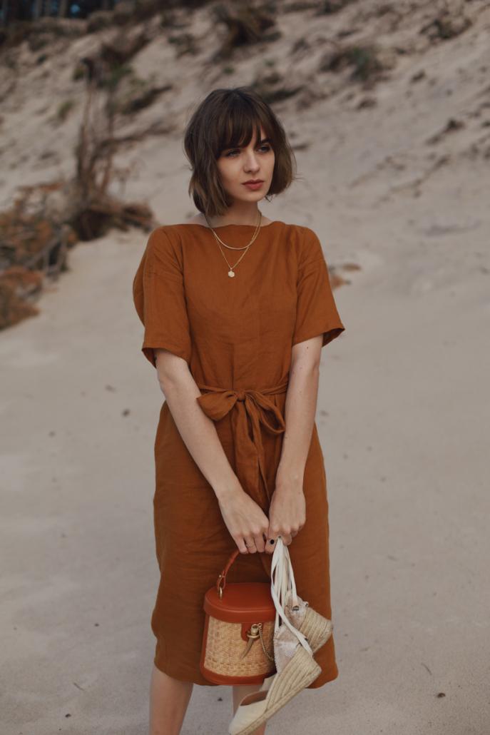 lniana sukienka na lato Karolina Maras